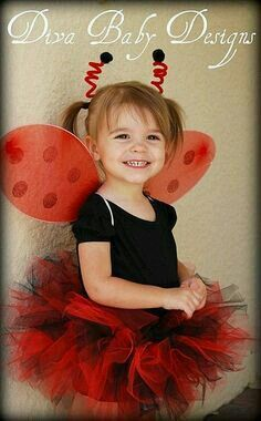 Girls Toddler Ladybird Insect Fancy Dress Costume Animal Book Week Age 2-3 New