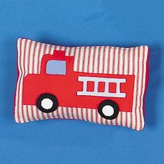 "Where's the Fire Pillow Sewing ePattern - Number of Designs: 1Approximate Design Size: 10""w x 7""hDesigner: Holly Whitt Allen for BanarOriginal Publication: Leisure Arts Leaflet #4364, Easy Fleece for Baby Skill Level: Easy Description: What little boy wouldn't love this fun fire truck pillow? Featuring red ticking fabric and bright primary fleece accents, it's sure to be a hit with the future fireman in your family. Patterns and full instructions are included.Product Type: Digital Download…"