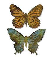 Sizzix Bigz Die W/A2 Texture Fades Folder By Tim Holtz-Butterfly Duo  14.99