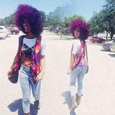 Purple & Pink Curls