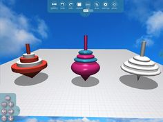 This week in #Morphi, envisioning things that #spin. #3Dprinting #app #ipad #design #makerED #experiment #movement