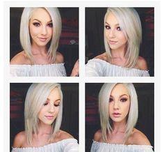 Beautiful platinum blonde hair #angledbob #bob