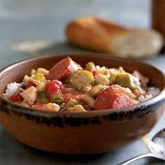 Sausage and Chicken Gumbo is a hearty and filling meal that's great for weeknights. The frozen vegetables speed along the cooking process and you can add additional spices to flavor the meal to your taste.