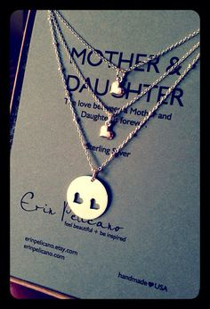 Mother Daughter Necklace. Mother Daughter Jewelry // Inspirational Jewelry // Simple Delicate Sterling Silver