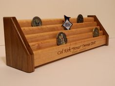 5 Tier Wooden Military/Challenge Coin Holder by WoodSimplyMade, $79.99