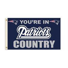 3 x 5 Grommet Banner New England Patriots Flag