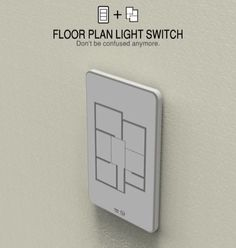 FLOOR PLAN LIGHT SWITCH.. Never have to walk through the house and turn off all the lights that were left on! Just click on the room from wherever!