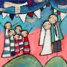 Olivia Botha Olivia Artist, Block Painting, South African Artists, Crafts With Pictures, Abstract Canvas Art, Chiaroscuro, Naive Art, Angel Art, People Art