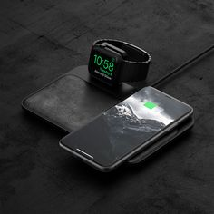 Nomad Updates Qi-Compatible Base Station With Integrated Apple Watch Charger - AIVAnet Iphone Apple Watch, Android Watch, Wireless Charging Pad, Usb Hub, Apple Watch Series 1, Beautiful Watches, Nice Watches, Smartwatch, Smartphone