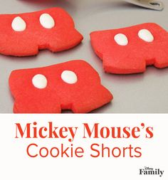 Oh boy! Cook up some magic in the kitchen with this easy sugar cookie recipe inspired by Mickey Mouse's signature red and white shorts. These sweet treats will turn out cute as a button and delicious as can be!