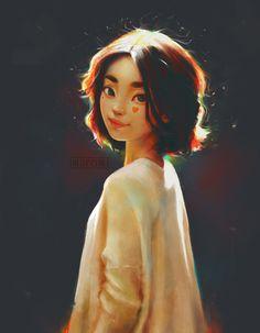 Kai Fine Art is an art website, shows painting and illustration works all over the world. Digital Art Girl, Digital Portrait, Portrait Art, Pretty Art, Cute Art, Art Et Illustration, Art Illustrations, Cartoon Art Styles, Girl Cartoon