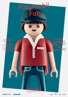 Playmobile fab. #poster #mudac #exhibition