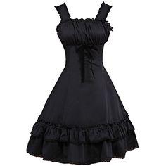 Partiss Womens Classic Schwarz aermel Lolita One-Piece-Kl... https://www.amazon.de/dp/B01FHB0Q4Q/ref=cm_sw_r_pi_dp_o6jBxbQYPH08Q