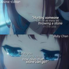 Anime: Nagi no Asukara , Sad Anime Quotes, Manga Quotes, Some Quotes, Best Quotes, Anime Triste, A Silent Voice, Anime Life, Poetry Quotes, Girl Quotes