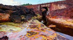 El paisaje de las minas de Riotinto parece sacado de una película de ficción…