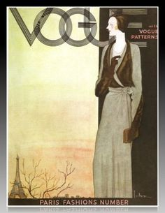 British Vogue cover, from October 1930  Illustration by Georges Lepape