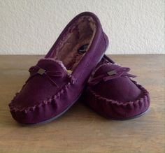 M&S COLLECTION Freshfeet™ Suede Moccasin Slippers with Silver Technology Women's #MarksSpencer #Moccasins