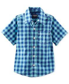 Osh Kosh Toddler Boys' Check Woven Shirt