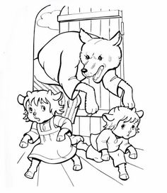 KECSKEGIDÁK Coloring Sheets, Coloring Pages, Wolf, Rainy Day Activities, Color Stories, Conte, Nursery Rhymes, Fairy Tales, Preschool