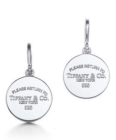 Return to Tiffany Outlet Round Tag Drop Earrings