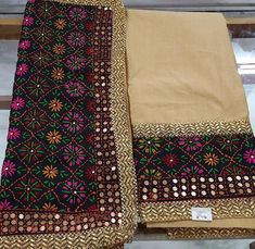 Punjabi Salwar Suits, Pakistani Dresses, Mirror Work Saree Blouse, Kurti With Jeans, Phulkari Embroidery, Heavy Dupatta, Phulkari Suit, Kurta Patterns, Ikkat Dresses