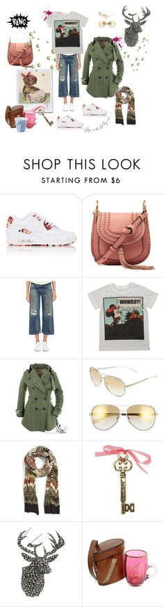 """""""Sooo Munich, the style of my hometown. Beergarden in November"""" by juliabachmann ❤ liked on Polyvore featuring NIKE, Chloé, Simon Miller, Philipp Plein, Michael Kors, Missoni and Cardboard Safari"""