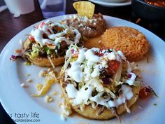 Mexican food is definitely not just tacos and burritos! We had some delicious sopes with beef at La Palapa Nayarit near Imperial Beach in San Diego, CA | This Tasty Life