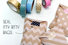 itty bitty bags + washi tape