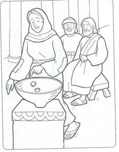 Widows Offering Coloring Page Lesson 2