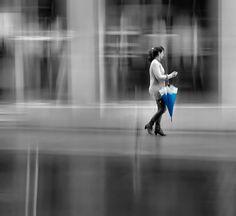Blue Umbrella by Josep Sumalla i Jordana, via 500px.