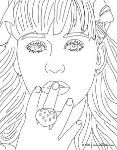 Get coloring with this ariana grande coloring pages.click
