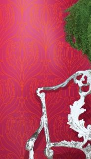 by Cole & Son  'Tulip Damask' by Cole & Son is an Art Nouveau damask wallpaper design, featuring single silhouetted tulips encircled with graceful leaves  click here if you wish to order samples   easy paste the wall application  pattern repeat - 16' roll 20.5 in wide, 33 ft long coverage 56 sq. ft.