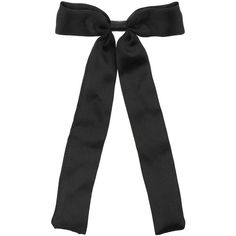 Black Fabric Bow Tie ($7.00) ❤ liked on Polyvore featuring accessories, hair accessories, fillers, bows, jewelry, women, hair bow accessories, miss selfridge and black hair accessories