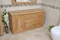 With adjustable and removable shelves paired up with centered drawers this Solid Oak Bathroom Storage Unit is a great way to style up the place as well as keep a lot of your bathroom products out of sight and therefor out of mind (for the time being atleast)  Link to product below: www.bathroomsandmorestore.co.uk/product/bathroom-furniture/solid-oak-double-bathroom-vanity-storage-unit-cor02abath/