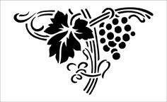 Vine stencils from The Stencil Library. Stencil catalogue quick view page Bor, Stencil Patterns, Decoration, Paper Cutting, Grape Vines, Cutting Files, Damask, Silhouettes, Art Nouveau