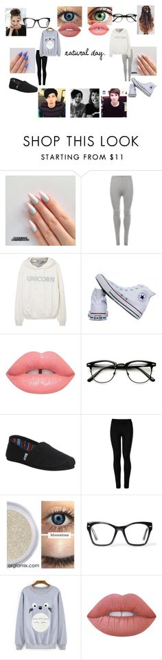 """""""Untitled #24"""" by mh-1604482 on Polyvore featuring WearAll, Wildfox, Converse, Lime Crime, TOMS, Wolford and Spitfire"""