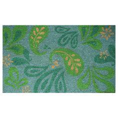 Paisley Leaves Doormat
