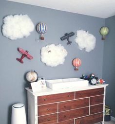 vintage airplane inspired nursery