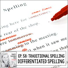 So many teachers I have talked to have told me that the old way of teaching spelling just doesn't cut it for them and that they wish there was a different way to meet all of their spellers needs. Well, what if I told you there was?