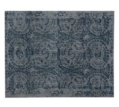 "Bosworth Printed Rug | Pottery Barn  ""Vanishing medallions"" Pure Wool, artisan"