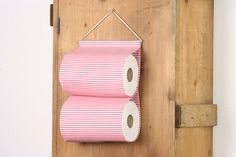 """Items similar to toilet paper holder """"Rollland"""" toilet tissue holder storage for toilet paper storage solution for bathroom 2 rolls in a row on Etsy Toilet Paper Storage, Delicate Wash, Red And White Stripes, Tissue Holders, Gift Packaging, Small Bags, Storage Solutions, Gift Wrapping, Make It Yourself"""