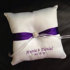 Personalised Ring Pillow by bridalbling on Handmade Australia