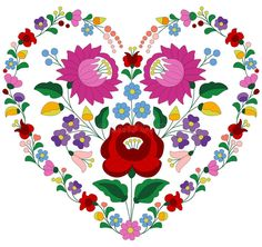 Illustration about Heart made with traditional Hungarian embroidery pattern from Kalocsa region. Illustration of kalocsa, intricate, folklore - 56621522 Hungarian Tattoo, Hungarian Embroidery, Folk Embroidery, Learn Embroidery, Hand Embroidery Patterns, Embroidery Designs, Butterfly Embroidery, Chain Stitch Embroidery, Embroidery Stitches
