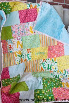 Snuggly Bricks Quilt: Tuesday Tutorial.. | The Polkadot ChairThe Polkadot Chair