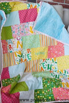 Snuggly Bricks Quilt: Tuesday Tutorial.. | The Polkadot ChairThe Polkadot Chair