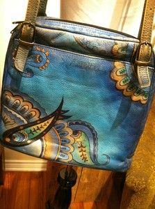 Anuschka leather purse