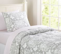 Butterfly Loft Quilted Bedding | Pottery Barn Kids