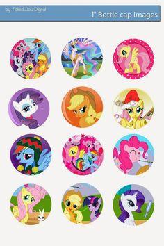 "Free Bottle Cap Images: My Little Pony free digital bottle cap images 1"" 1inch"