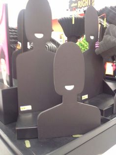 Found these simple human-shaped cutouts at my local Target store. Market Stall Display, Market Displays, Store Displays, Market Stands, Booth Displays, Jewelry Booth, Jewelry Stand, Jewellery Display, Craft Fair Displays
