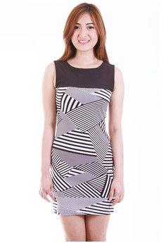 Jocasta Monochrome Dress